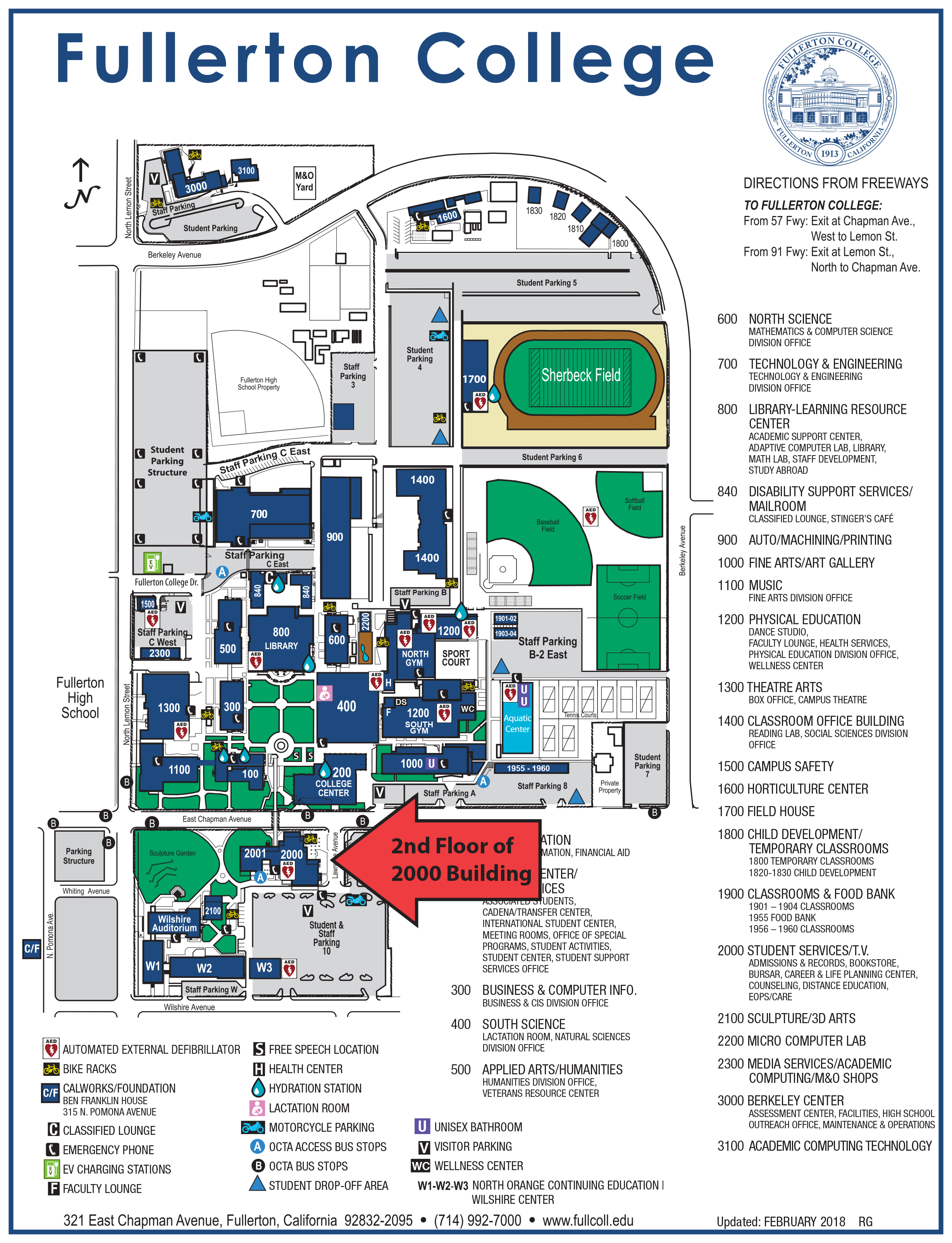 Fullerton College Map Hours and Location | Counseling at Fullerton College Fullerton College Map